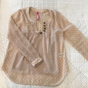 Plenty by Tracy Reese Blouse in Blush and Gold